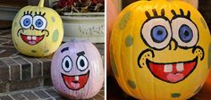 Ideas para decorar calabazas de Hallowen: Bob Esponja