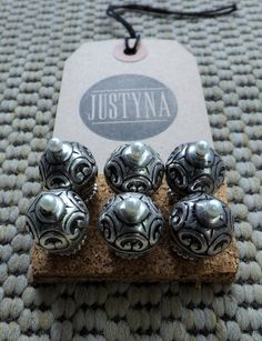 Set of 6 beaded pushpins by justynainteriors on Etsy
