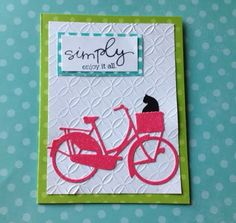 Blank Bicycle Card Celebrates Any Occasion by SelfishNecessities, $3.50 #eSpokes #bikes #ebikes
