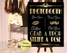 PRINTABLE Gangster Street SignGatsby party by inkmebeautiful