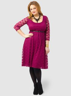 at Gwennie Bee // purple lacy dress