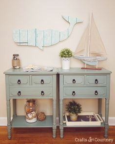 Faux wood whale wall art project - beautiful home decor for a coastal theme room, a baby nursery idea or other beachy space