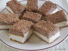 Kipróbált és bevált receptek: Kókuszos szelet kávéval ízesítve Dessert Cake Recipes, Creative Cakes, Bread Baking, Coco, Healthy Snacks, Cheesecake, Food And Drink, Appetizers, Sweets
