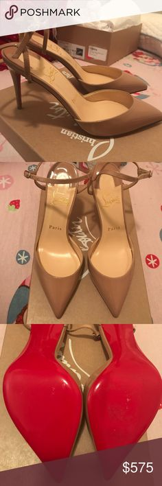 New Christian Louboutin rivierina 36.5 Never used pair of Rivierina in size 36.5 Comes with box and dust bag. -sticker residue to sole (on the right shoe)   Price is negotiable via other platform.  Price is firm on here. Christian Louboutin Shoes Heels