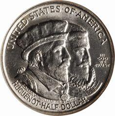 United States commemorative coins 1924 Huguenot Walloon Tercentenary Half Dollar