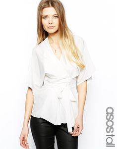 ASOS Tall | ASOS TALL Top With Obi Wrap at ASOS