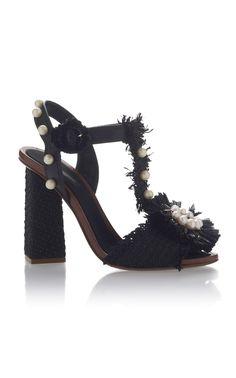 Dolce & Gabbana Embellished Raffia Sandals $1,395