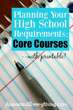 Are you intimidated by planning high school requirements for your homeschool?  The process does not need to be difficult, especially for the core courses.  Read this to learn how to easily handle each subject -- and download a free printable form!