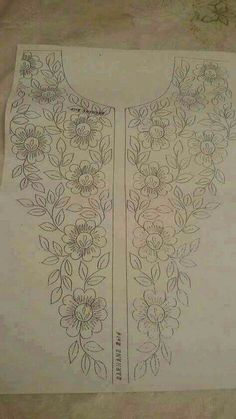 Discover thousands of images about Embroidery designs Embroidery On Kurtis, Embroidery Neck Designs, Tambour Embroidery, Embroidery Transfers, Hand Embroidery Patterns, Embroidery Applique, Beaded Embroidery, Embroidery Stitches, Machine Embroidery