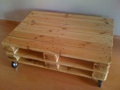 Pallets, Ideas Para, Sweet Home, Table, Furniture, Home Decor, Home, Wheels, Wood