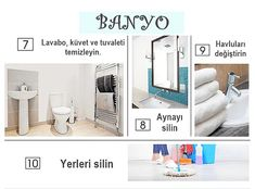 Evinizi Adım Adım Bal Dök Yala Kıvamına Getirecek İpuçları – Pin's Page Dusty House, Clean Toilet Bowl, Powder Room Decor, Sofa Set, Home Organization, Clean House, Storage Spaces, Living Spaces, Cabinet