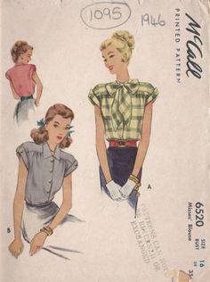 1946-Vintage-Sewing-Pattern-B34-BLOUSE-1095