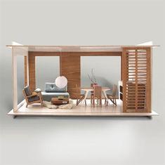 Smukt, nordisk og stilrent dukkehus - lige til at sætte i stuen. Det fine hus er i forholdet 1:6, hvilket gør at det passer perfekt til dukker på 30 cm, som f.eks. Barbie.  Miniio er et moderne dukkehus, der er håndlavet af træ, metal, sten og andre moderne materialer, der ikke indeholder nogen former for kemikalier.  Start med at bygge underetagen, der kommer fuldt møbleret. Der er et stort panorama vindue, der også gør det nemt for små hænder at lege inde i huset.  Med stueetagen ...