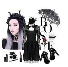 """""""Gothic"""" by vebry-oetami on Polyvore featuring Jeffrey Campbell, Gorgeous Cosmetics, NARS Cosmetics, Mary Kay and Avenue"""