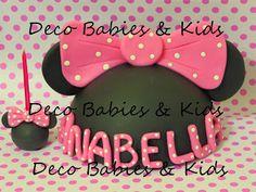 Deco Babies & Kids: Adorno media silueta Minnie con letras