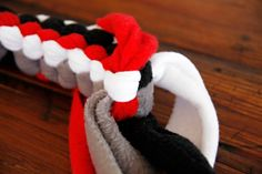 Dalmatian DIY: DIY for Dogs: Square Knot Fleece Tug Toy                                                                                                                                                                                 More