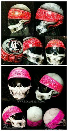 Red or Pink Skull Helmet?
