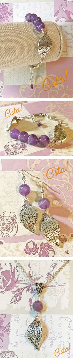 Natural Amethyst Jewelry Set by C'sta!