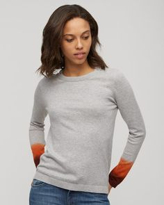 Made from a cotton and cashmere, this soft sweater has undergone a specialist Double Dip Dyeing technique on the cuffs. The hand dyeing process means no two sweaters are the same for a truly original piece. Wear with our denim and trainers. Dip Dye, Cashmere, Turtle Neck, Denim, Knitting, Tees, Trainers, Sweaters, Cuffs