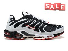 Nike Air Max Tn/Tuned Requin 2014 - Chaussures Nike Sportswear Pas Cher Pour Homme Noir/Blanc/Rouge 604133-305