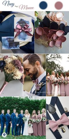Top 8 Striking Navy Blue Wedding Color Palettes for 2019 Fall—navy blue and mauve, wedding dreses, wedding bouquets, wedding centerpeices, wedding c… - Decoration For Home Diy Wedding Reception, Fall Wedding, Dream Wedding, Reception Table, Wedding Ideas, Garden Wedding, Wedding Themes For Fall, Navy Spring Wedding, Wedding Color Themes