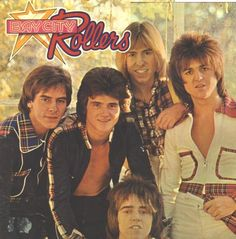 Bay City Rollers - These were the only guys I had any kind of crush on as a teen.  Eric Faulkner especially!!  : )  Let's see...from left to right:  Alan, Leslie, Derek, Eric and Woody at the bottom