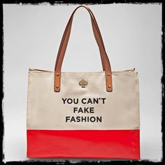 By Kate Spade.  I love this, I also would have loved-You Can't Fake Style