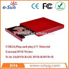 ECD009-DW E-SUN Best Sales Laptop External USB 2.0 Ultra Slim DVD writer/portable USB External optical drive for tablet pc #Best_Laptop, #For_Writers