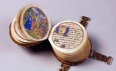 Codex Rotundus is a unique miniature circular book from 1480 handmade books 18 most creative books from the past and present Medieval Books, Medieval Manuscript, Medieval Art, Illuminated Manuscript, Illuminated Letters, Antique Books, Vintage Books, Book Tree, Artist's Book