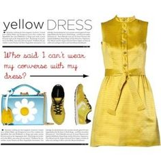 Yellow Dress & Converse Sneakers