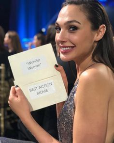 """102k Likes, 1,300 Comments - Gal Gadot (@gal_gadot) on Instagram: """"Thank you to the Critics for recognizing Wonder Woman as Best Action Movie!!"""""""