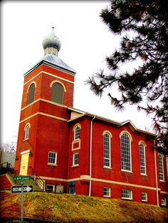 This church sits high on a hill just south of Central Avenue and above  Interstate 70 and the Kansas River in Kansas City, Kansas
