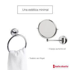 La colección de accesorios de baño Royal y el espejo de aumento son elementos perfectos para tener tu baño de ensueño. Clic en www.banodiseno.com para saber más detalle sobre ellos.