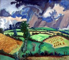 Erich Heckel (Germany 1883-1970) Landschaft im Gewitter - Landscape in a Storm (1935) tempera on canvas