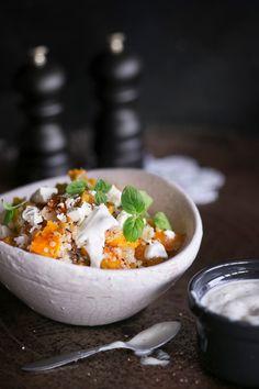 Kurpitsa-kvinoasalaatti | K-ruoka #myskikurpitsa Acai Bowl, Breakfast, Food, Acai Berry Bowl, Breakfast Cafe, Essen, Yemek, Meals