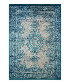 Another great find on #zulily! Blue Vintage Moriah Rug #zulilyfinds