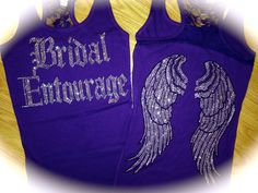 Items similar to 4 bachelorette Party Tank Tops. Bride and Bridesmaid Tank Tops. Set of 4 bridesmaid Angel Wings Tank Tops. Set of 4 lace bridesmaid tanks. on Etsy Bridal Party Shirts, Bachelorette Party Shirts, Bachelorette Ideas, Bridesmaid Tank Tops, Rhinestone Shirts, Tank Shirt, Brides And Bridesmaids, Lace Tank, Maid Of Honor
