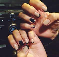 black and nude, nail