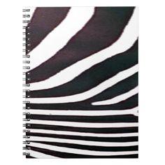 Zebra Black and White Stripes Print Notebook Custom Office Retirement Custom Notebooks, Stripe Print, Animal Print Rug, Retirement, Personal Style, Triangle, Stripes, Black And White, Rose