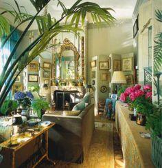 gorgeous green apartment of KK Auchincloss on the Place des Etats-Unis in the 16th arrondissement.