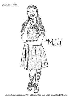 Imprimir Desenhos Chiquititas 2013 para Pintar de Colorir das Personagens da Novela do sbt Mili, Pata, Bia, Cris, Vivi, Tati e Ana para Colorir.