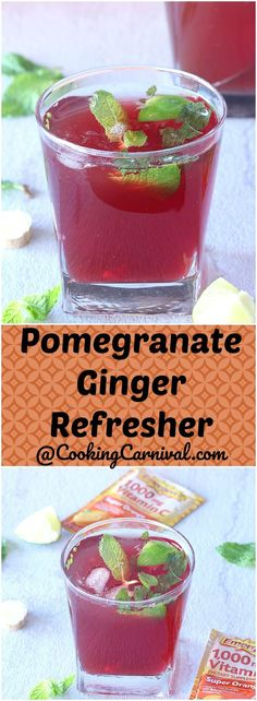 Add some vitamin C to your day with this Pomegranate Ginger Refresher. You'll love how easy the recipe is, and it's perfect for the season!