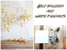 Weighted down balloons and white paper can transform a room. | 32 Unbelievably Cheap And Beautiful DIY Photo Backdrops