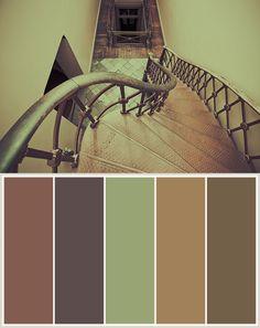 Color Themes: Courthouse Stairs Paint Themes, Paint Color Schemes, Nature Color Palette, Colour Palettes, Design Seeds, Color Swatches, Earth Tones, Colorful Interiors, House Colors