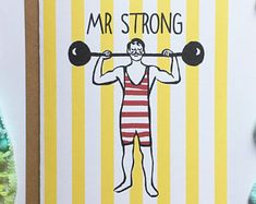 A5 Mr Strong Card