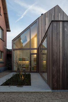 Wood Architecture 50 Shades of Wood by Declerck-Daels Architecten is a timber dentist surgery in B. House Cladding, Timber Cladding, Exterior Cladding, Cladding Ideas, Timber Architecture, Residential Architecture, Architecture Details, Timber Buildings, Wooden Facade