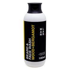 SHAMPOO PARA BARBA WOOD+BERGAMOT - Age como shampoo para barba e sabonete líquido para o rosto. Os extratos de Chá Verde e Aloe Vera auxiliam na limpeza e hidratação. Fragrância amadeirada.
