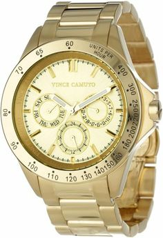 Vince Camuto Women%27s VC%2F5006CHGB Gold-Tone Multi-Function Bracelet Watch