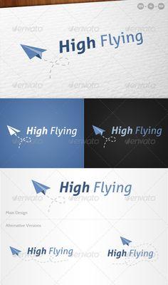 High Flying' Paper Airplane / Aeroplane  - Logo Design Template Vector #logotype Download it here: http://graphicriver.net/item/high-flying-paper-airplane-aeroplane-logo/755549?s_rank=146?ref=nesto