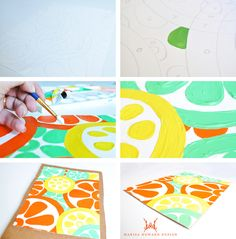 Learn how to paint your own bold design painting